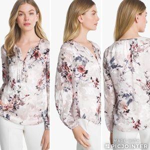 9b02c6da5ff83 White House Black Market Silk Burnout Floral Blous